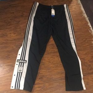 Adidas Adibreak Track Pants Green Snap Sides XL